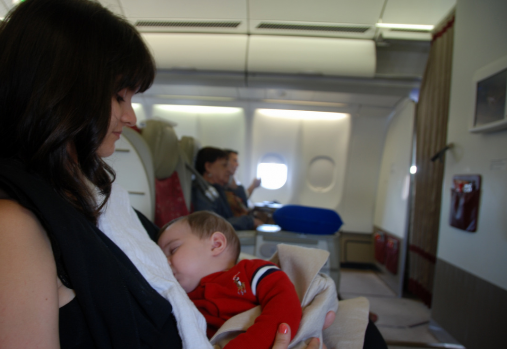 viajar com crianças na primeira fileira