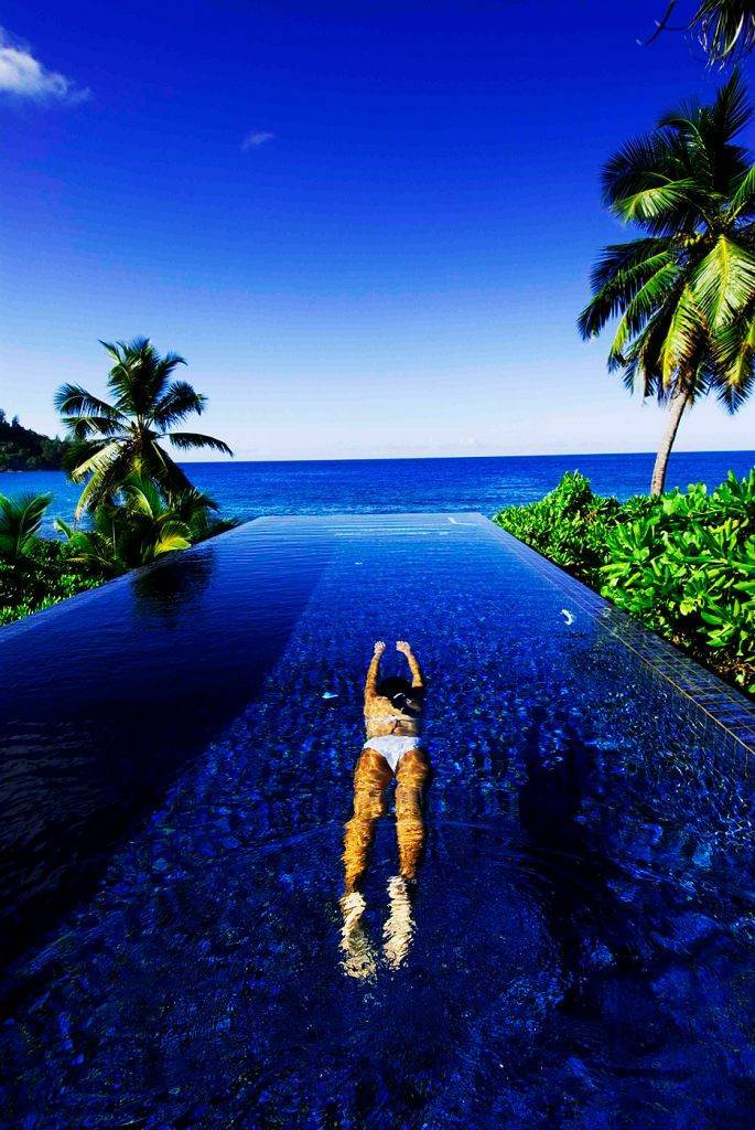 Piscinas mais lindas do mundo – Banyan Tree, Seychelles