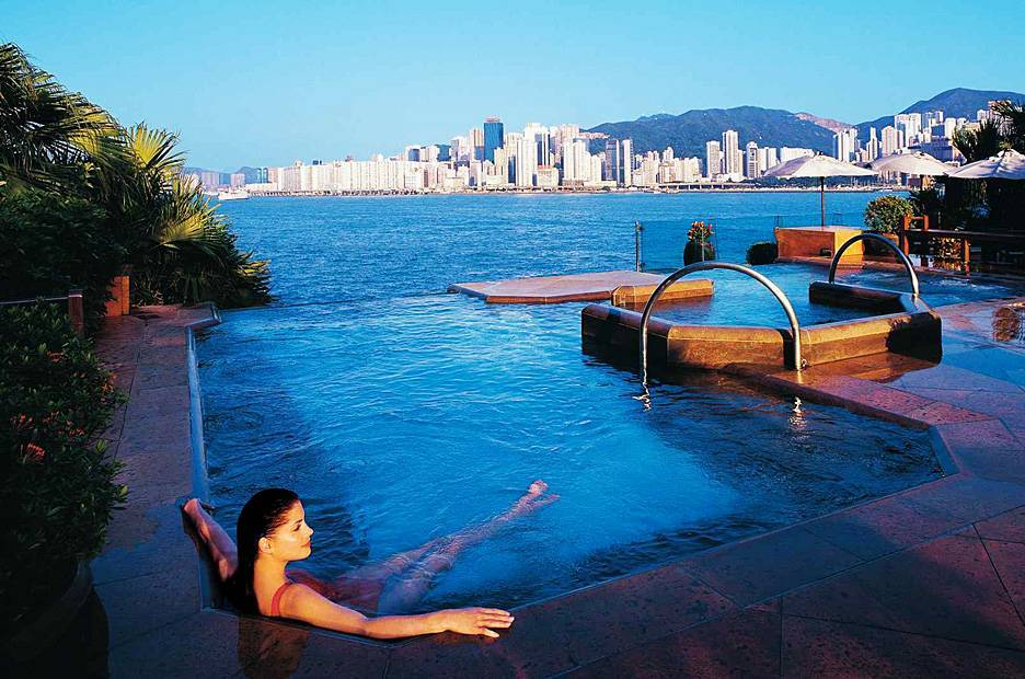 Piscinas Espetaculares – Intercontinental Hotel, Hong Kong