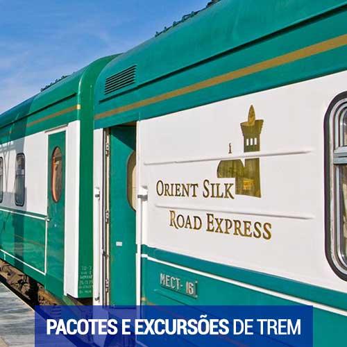 Pacotes e excurses de trem