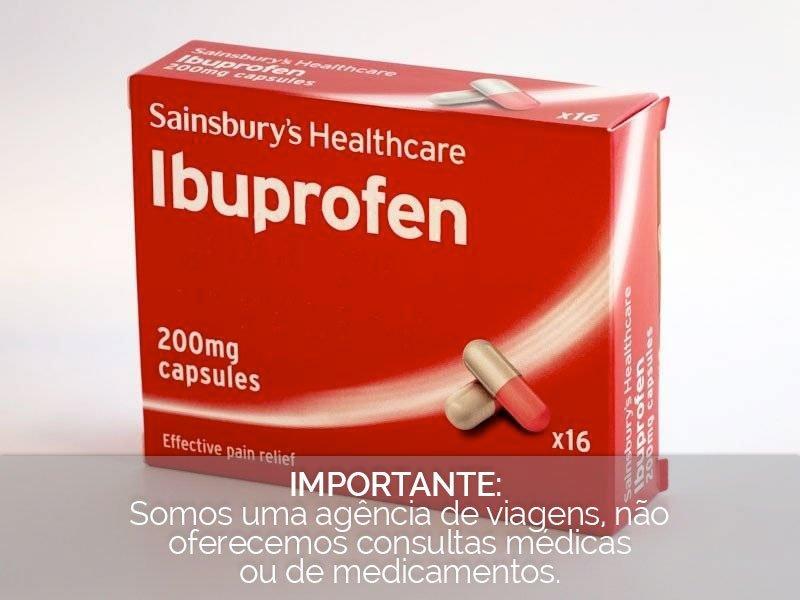 caixa de ibuprofeno, eficaz no alívio da dor