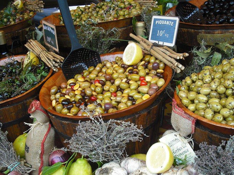 azeitonas produzidas em provence