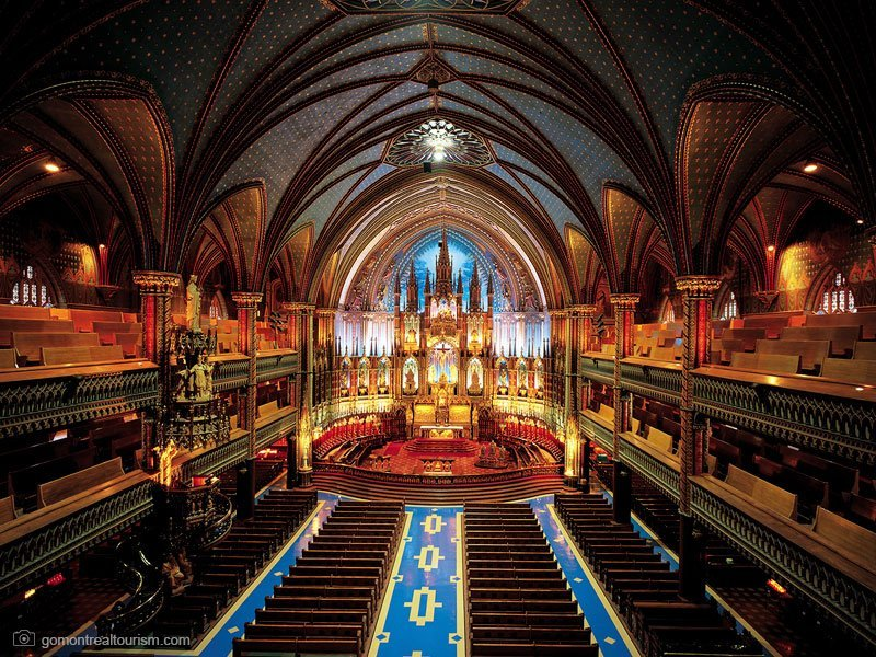 basílica notre-dame - pontos turísticos montreal