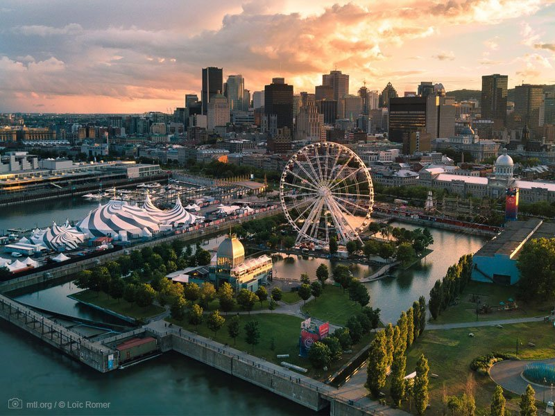 old port pôr do sol - pontos turísticos em Montreal - melhor época para viajar para Montreal - Jardim Botânico de Montreal - Cidade Subterrânea - Cidade Criativa do Design - basílica de notre-dame